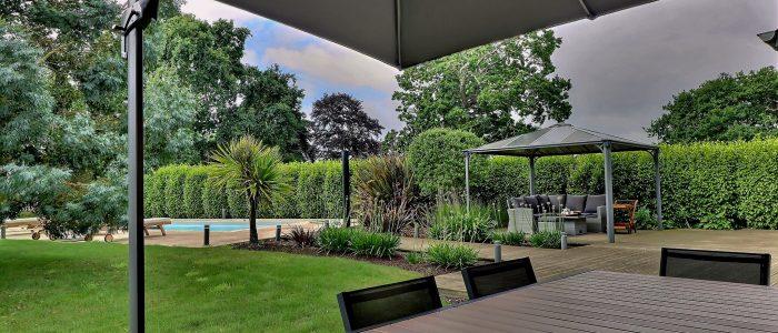 Terrasse, accès jardin